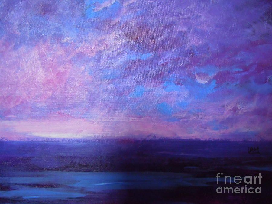 pink sky painting - Google Search