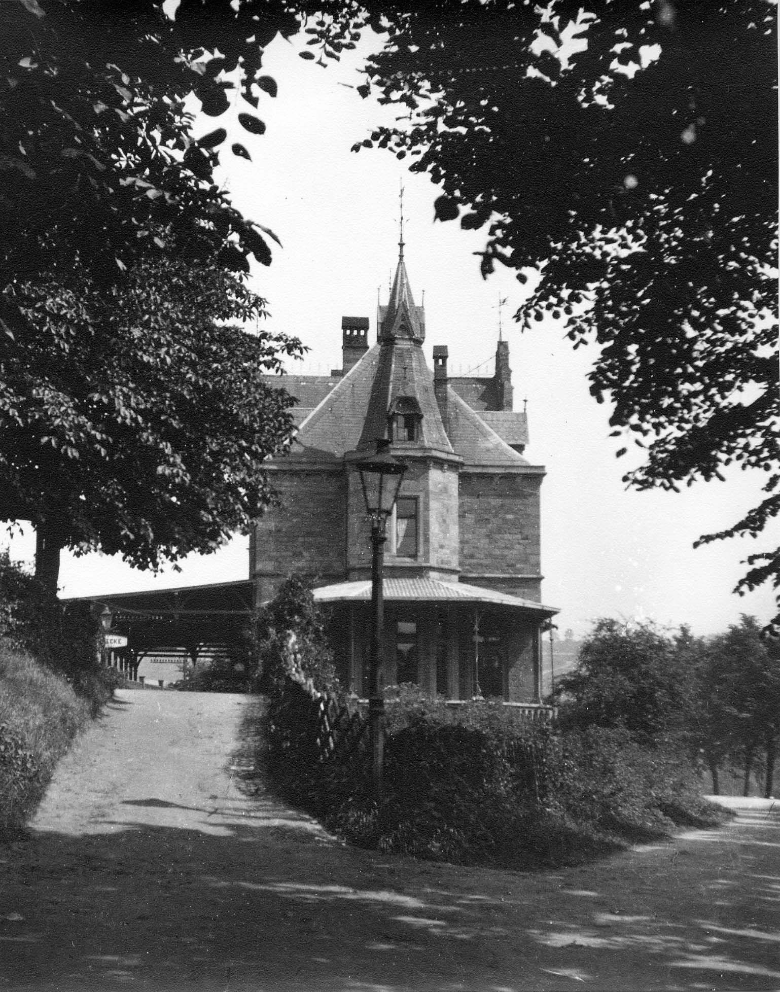 Bahnhof, Herdecke, Westfalen, 30er Jahre Historische
