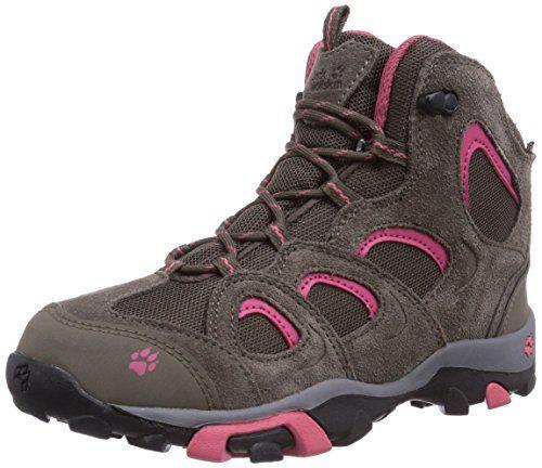 Jack Wolfskin GIRLS MTN ATTACK MID TEXAPORE - botas de senderismo de piel niña