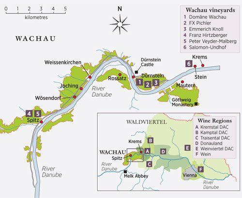 Wachau Karte Donau.Wachau Wine Map Wachau Six Of The Best Wineries To Visit