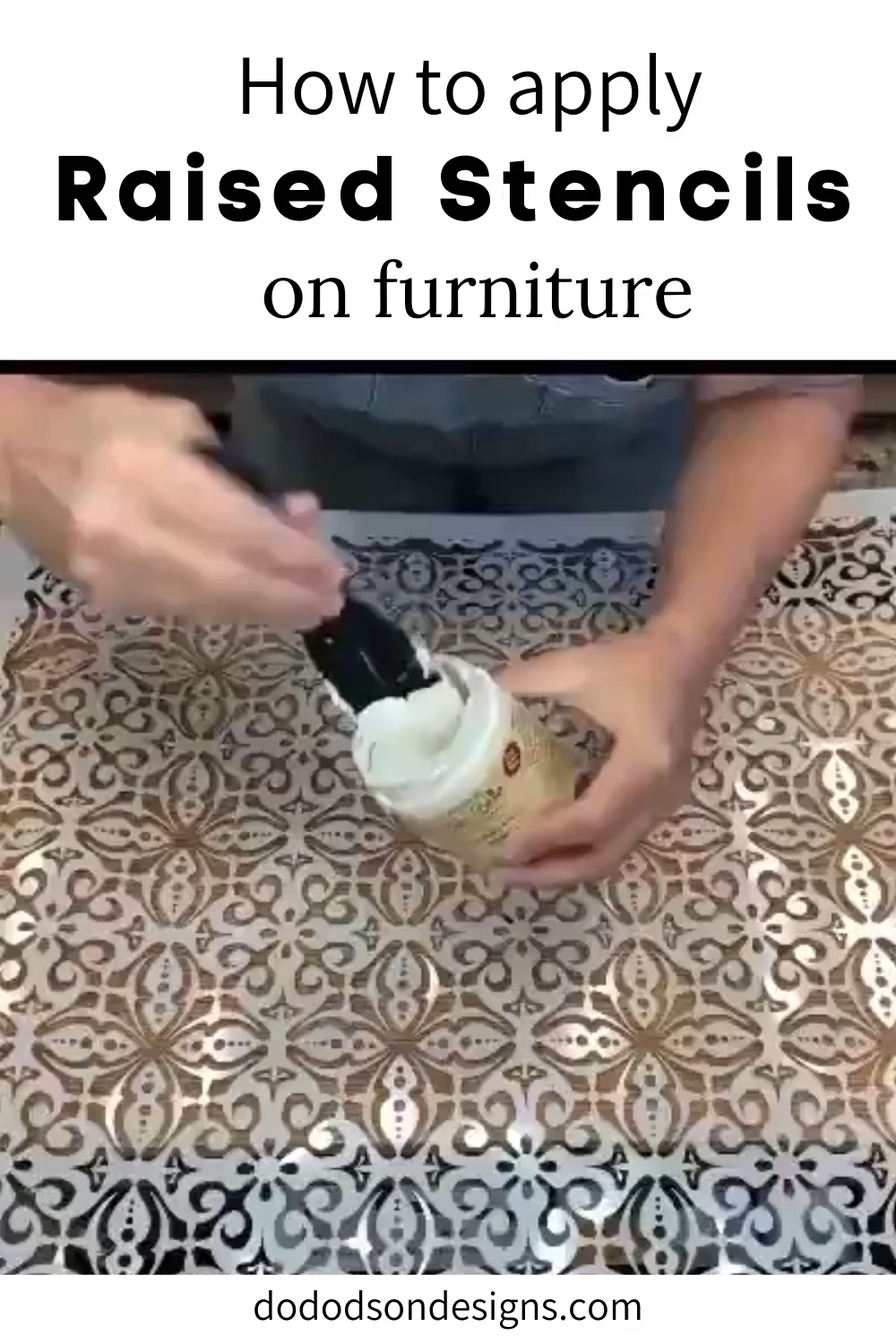 How To Easily Apply Raised Stencils On Furniture