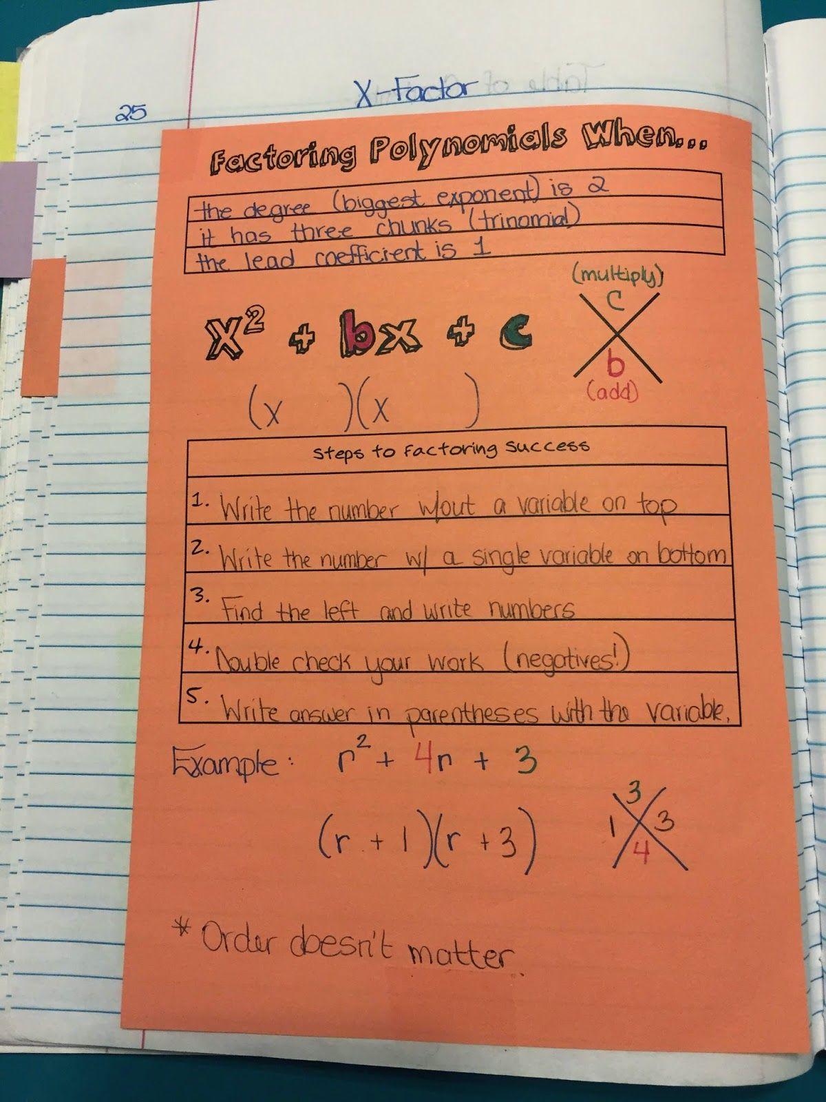 Misscalcul8 Algebra 2 Unit 3 Factoring