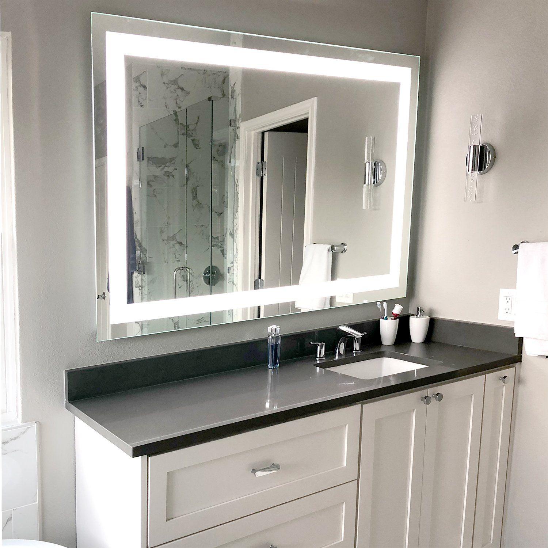 Front Lighted Led Bathroom Vanity Mirror 40 Bathroom Vanity Mirror Bathroom Design Bathroom Interior