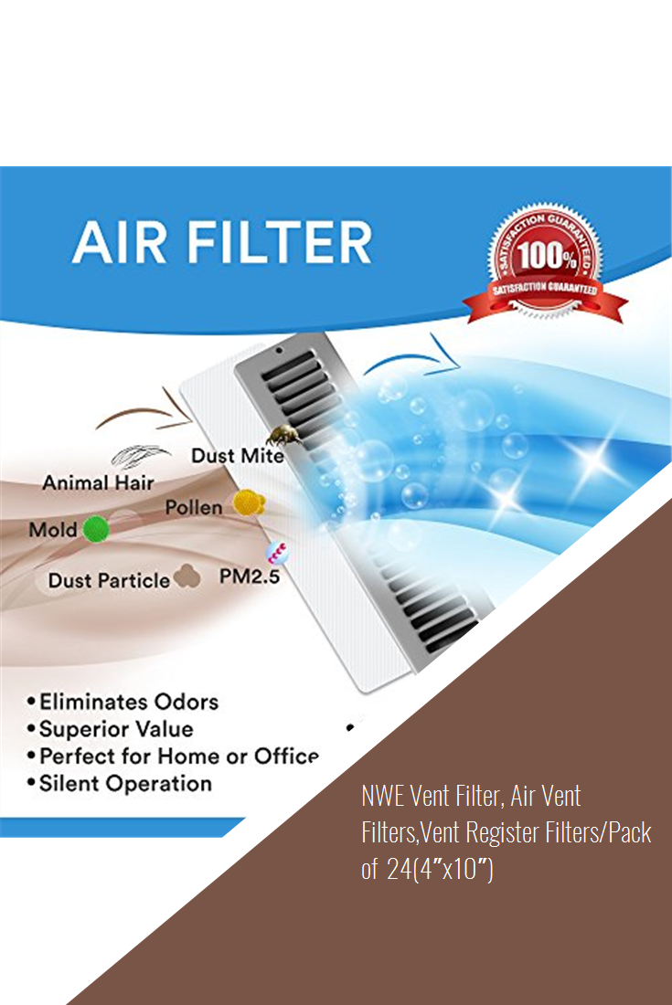 Nwe Vent Filter Air Vent Filters Vent Register Filters Pack Of 24 4 X10 Airconditioner Vent Registers Filters Vented