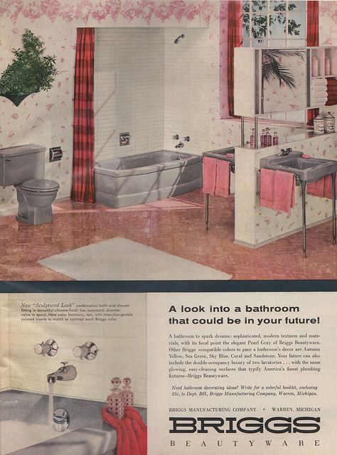 Briggs Beautyware, 1958, Via Flickr. Pearl Gray Toilet, Bathtub And Back To