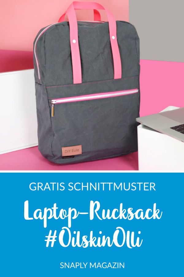 Kostenloses Schnittmuster: Laptop-Rucksack | Snaply-Magazin
