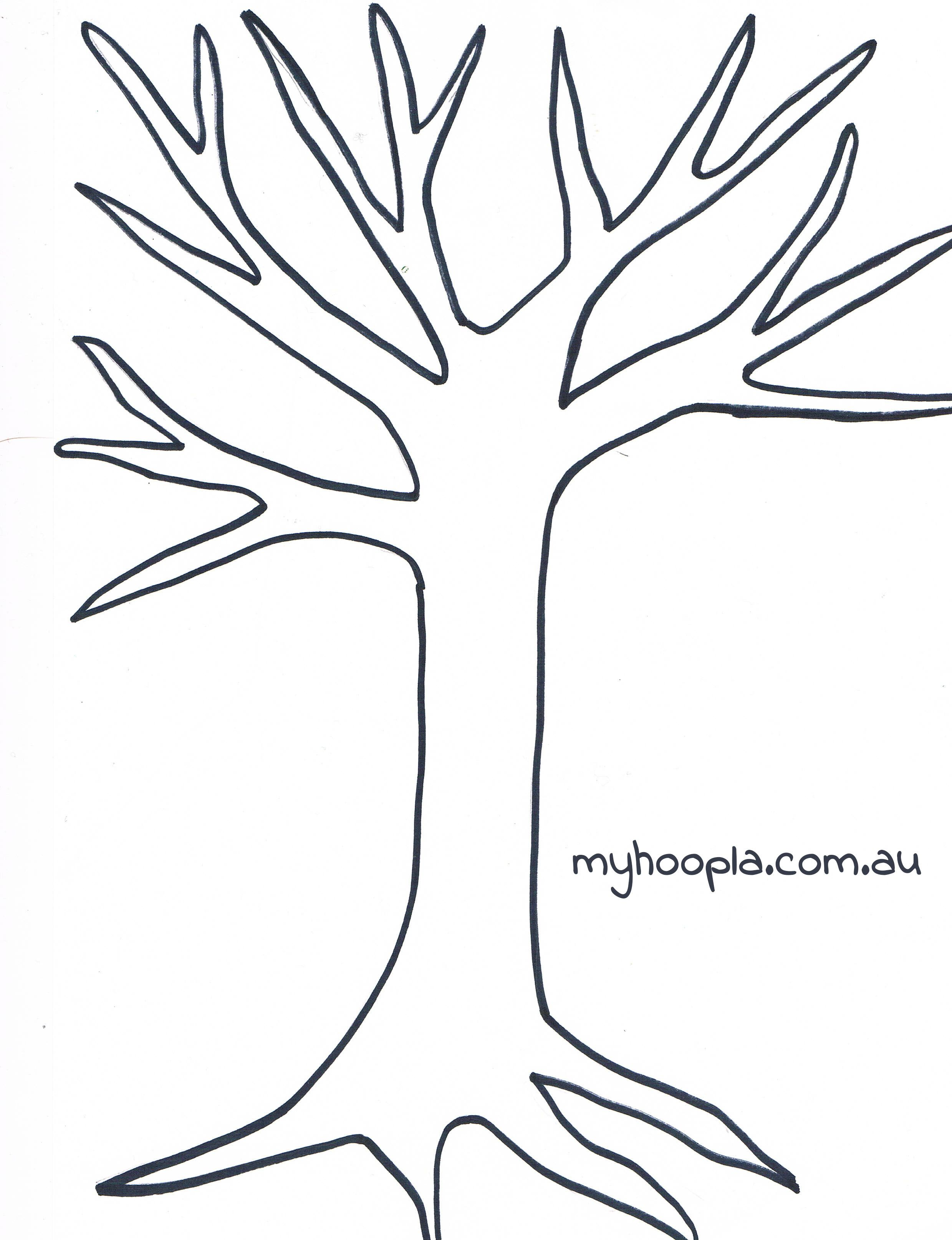 Kandinsky S Trees Myhoopla Tree Coloring Page Tree Templates Button Tree Art