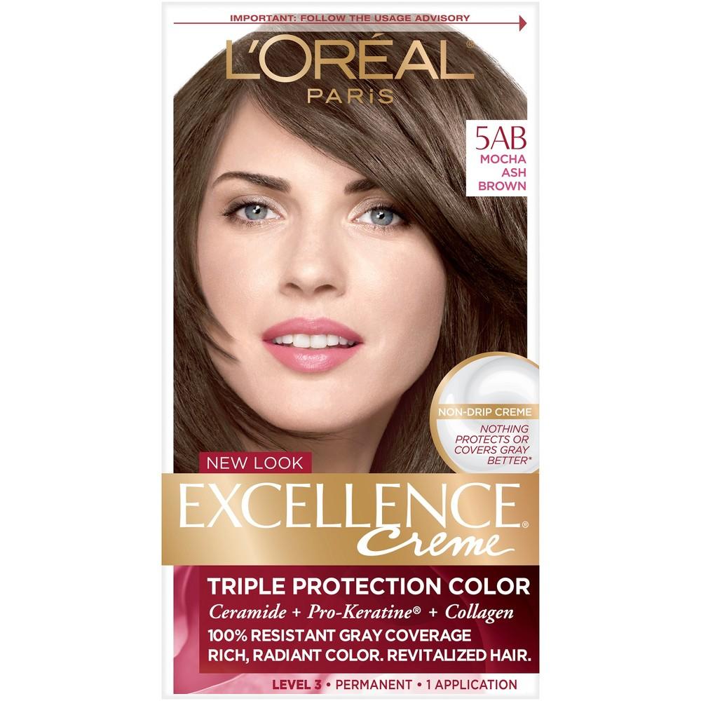 L Oreal Paris Excellence Creme Triple Protection Color 6 3 Fl Oz 3 Natural Black 1 Kit In 2020 Ash Brown Hair Color Loreal Hair Color Light Ash Brown Hair