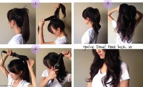 Source : http://www.prettygossip.com/2014/05/05/pony-tail-curling-trick-loose-curls-in-2-minutes/