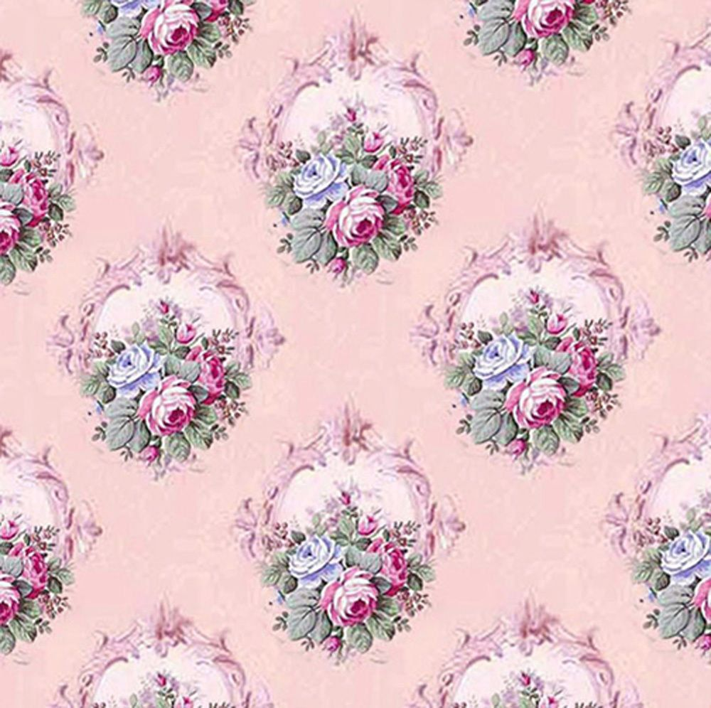French Chateau Dolls House Wallpaper Pink By