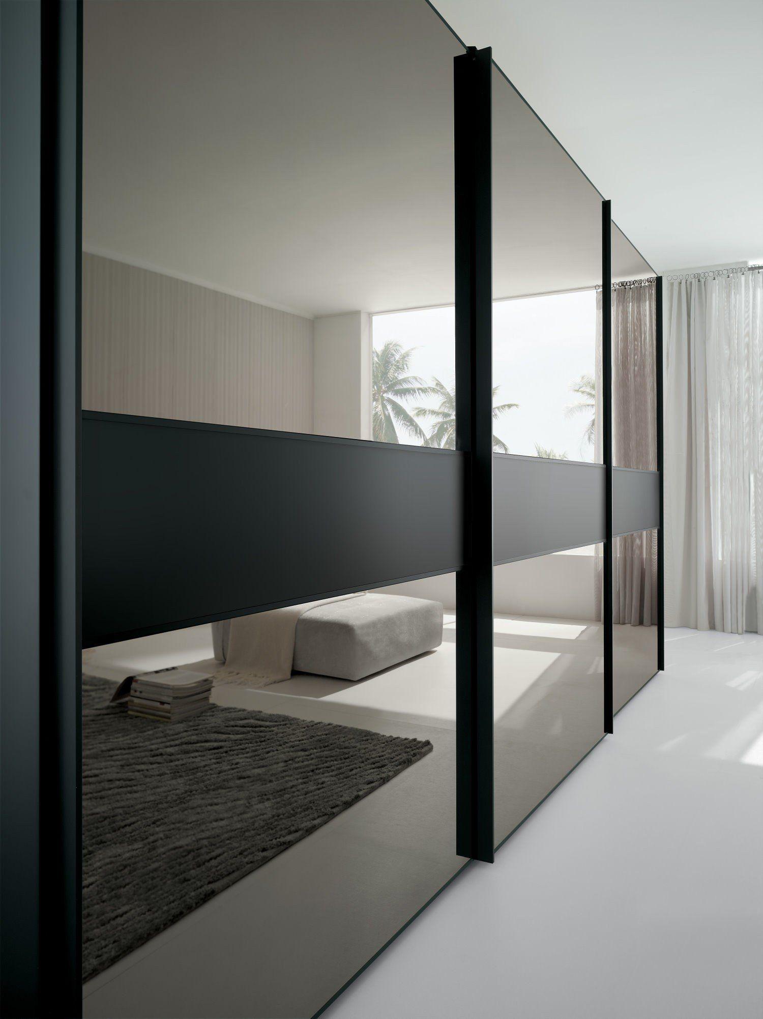 Armoire Murale Pour Chambre portes coulissantes en miroir brilliant pour armoire
