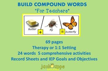 """Download our FREE app, """"Build Compound Words,"""" on your ipad.  Other products on compound words available at our www.jackappseducation.com store."""