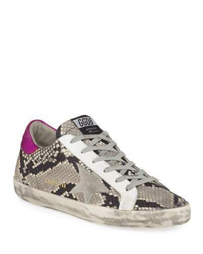 c954908b8c9 Golden Goose Superstar Snake-Print Sneakers in 2019   Products ...