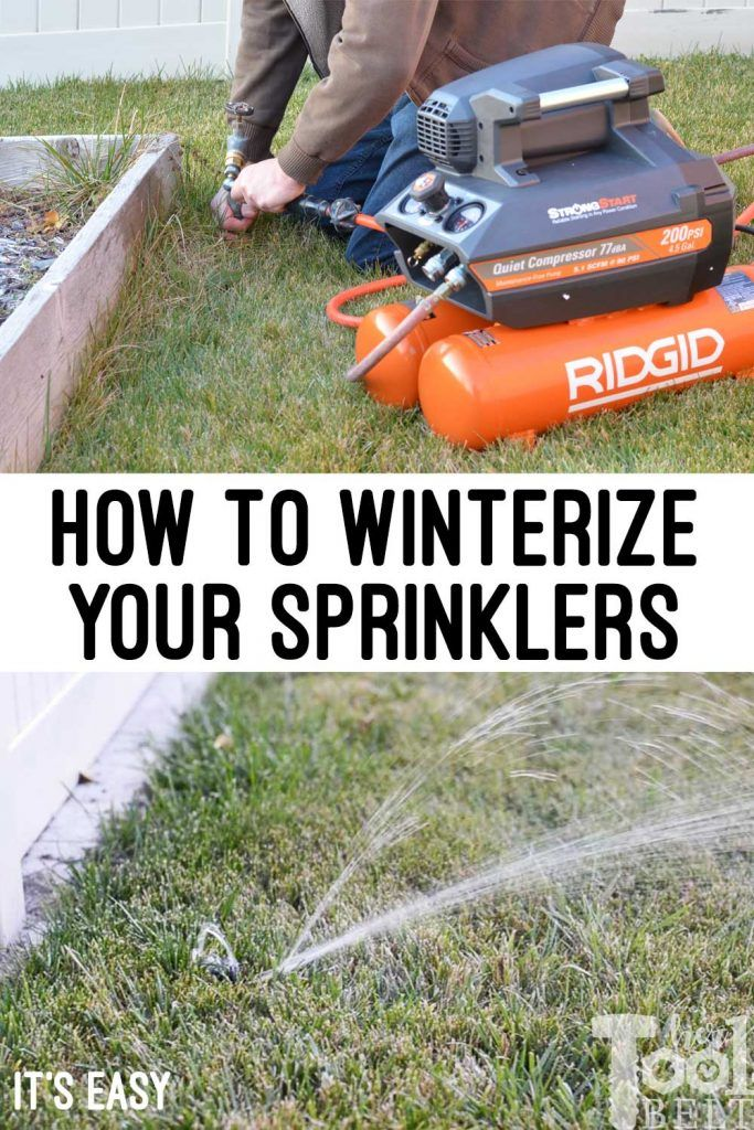 Winterizing Sprinklers How to blow out sprinklers