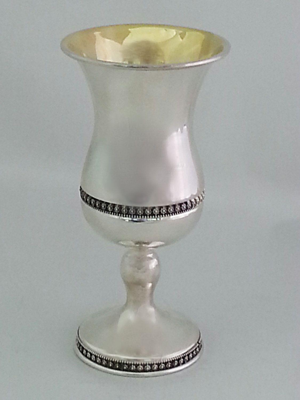 Sterling silver handmade wine goblet by STUBSILVERWARE on Etsy