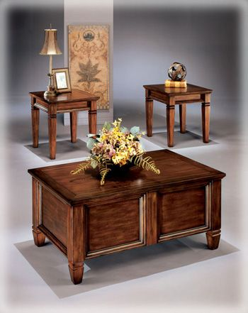 Three Piece Table Set Cocktail Opens As A Cedar Lined Chest Furniture At Home Furniture Store Chest Coffee Table