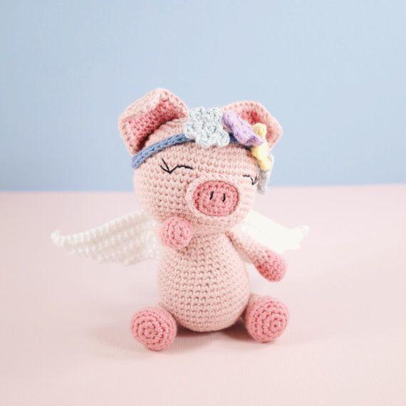Amigurumi crochet cute pig Pippa the pig PATTERN ONLY | Tejido ...