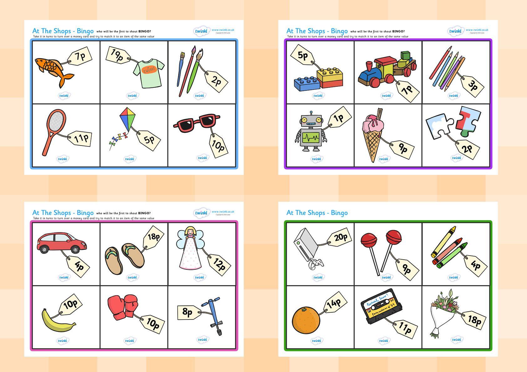 Twinkl Resources Gt Gt Toy Shop Bingo Gt Gt Printable Resources