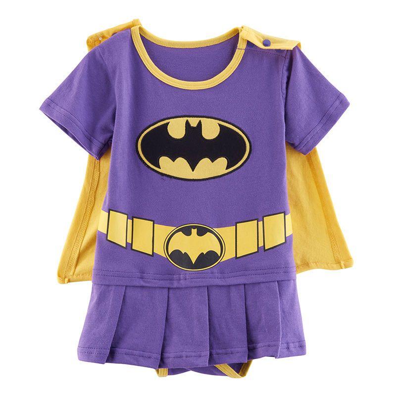 Newborn Baby Girls Batgirl Costume Bodysuit Cute Skirt with Cape ...