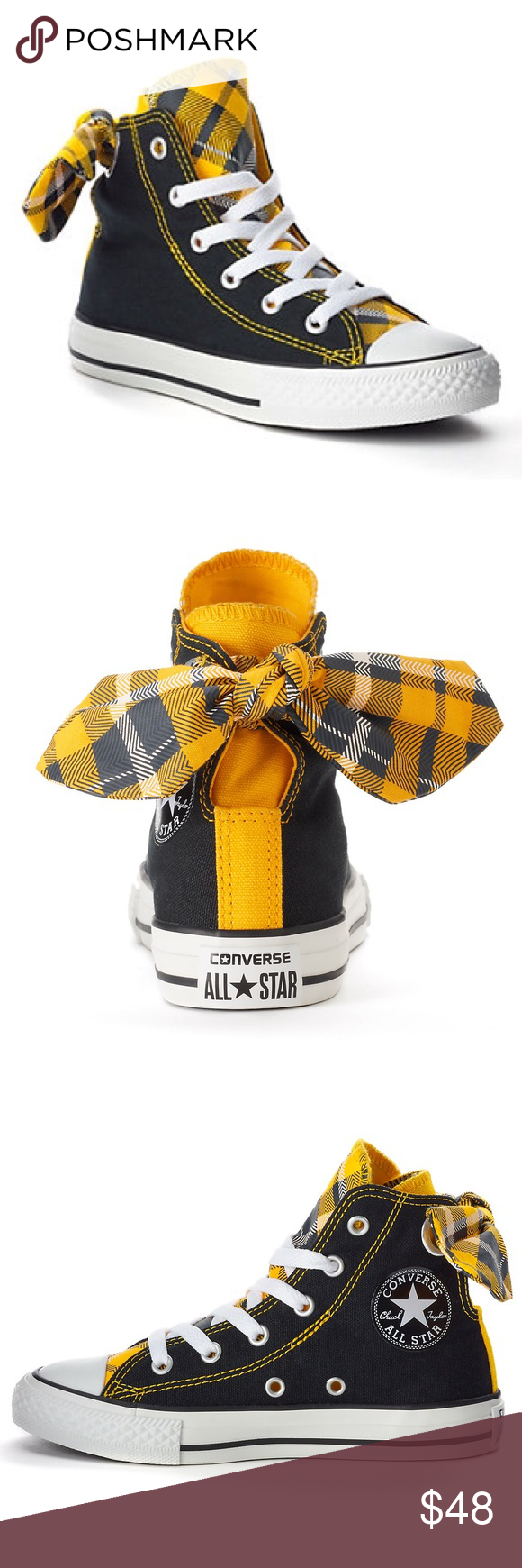 ab43ea58ff5 Beautiful Authentic Black and yellow converse