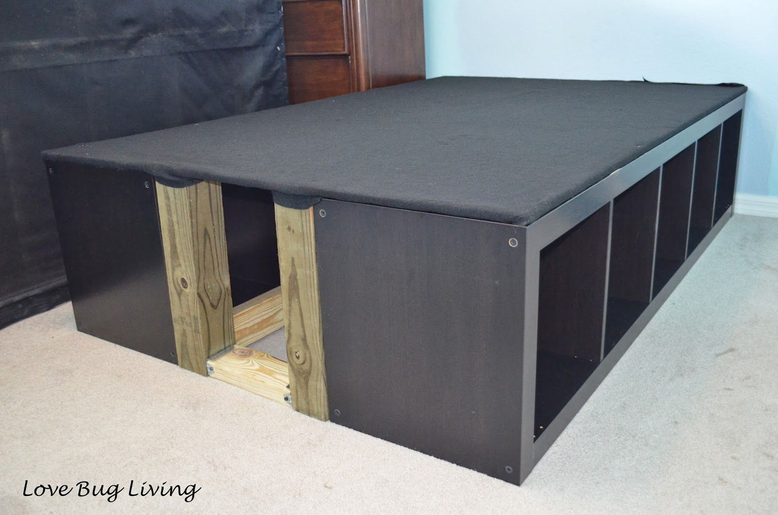 Love Bug Living Ikea Expedit Hack Platform Bed Beds