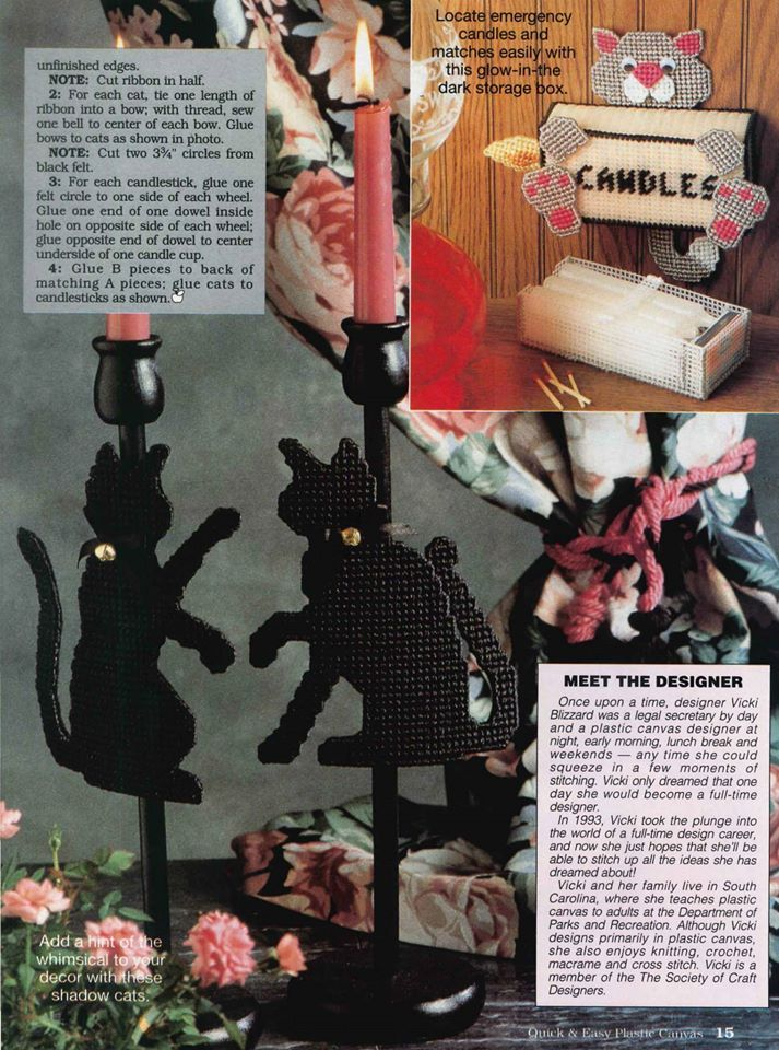 CANDLES KITTY by SANDRA MILLER MAXFIELD 2/3