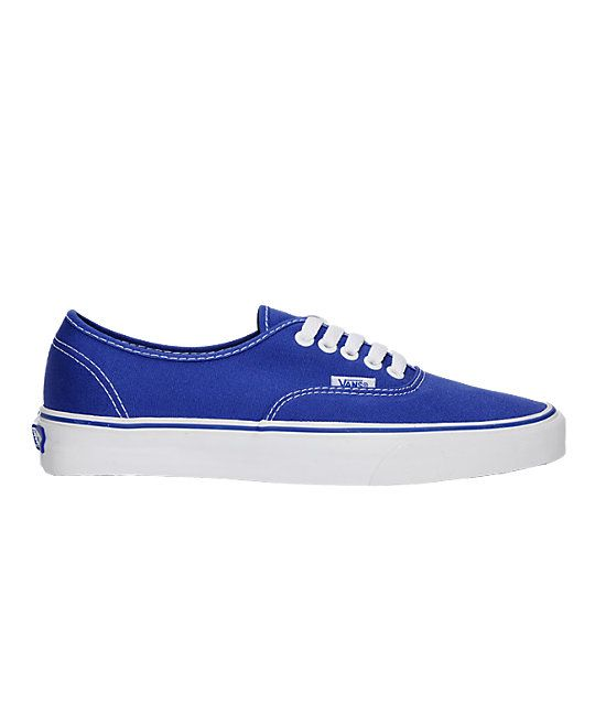 Vans Authentic Royal Blue Skate Shoes in 2019  74bcf9419