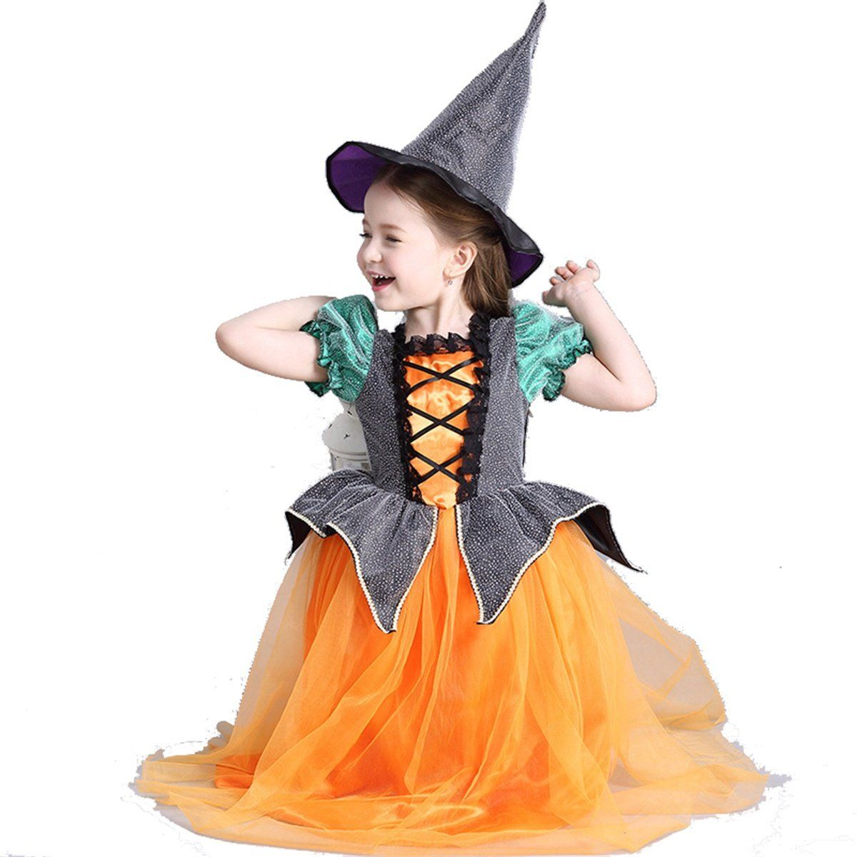 Novelty & Special Use Girls Costumes Halloween Costume For Kids Witch Costume Girl Fancy Dress Hat Children Fantasia Infantil Carnival Party Child Cosplay Christmas Packing Of Nominated Brand