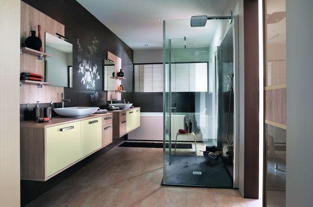 Meuble salle de bain  des modèles tendance Shopping - Stratifie Mural Salle De Bain