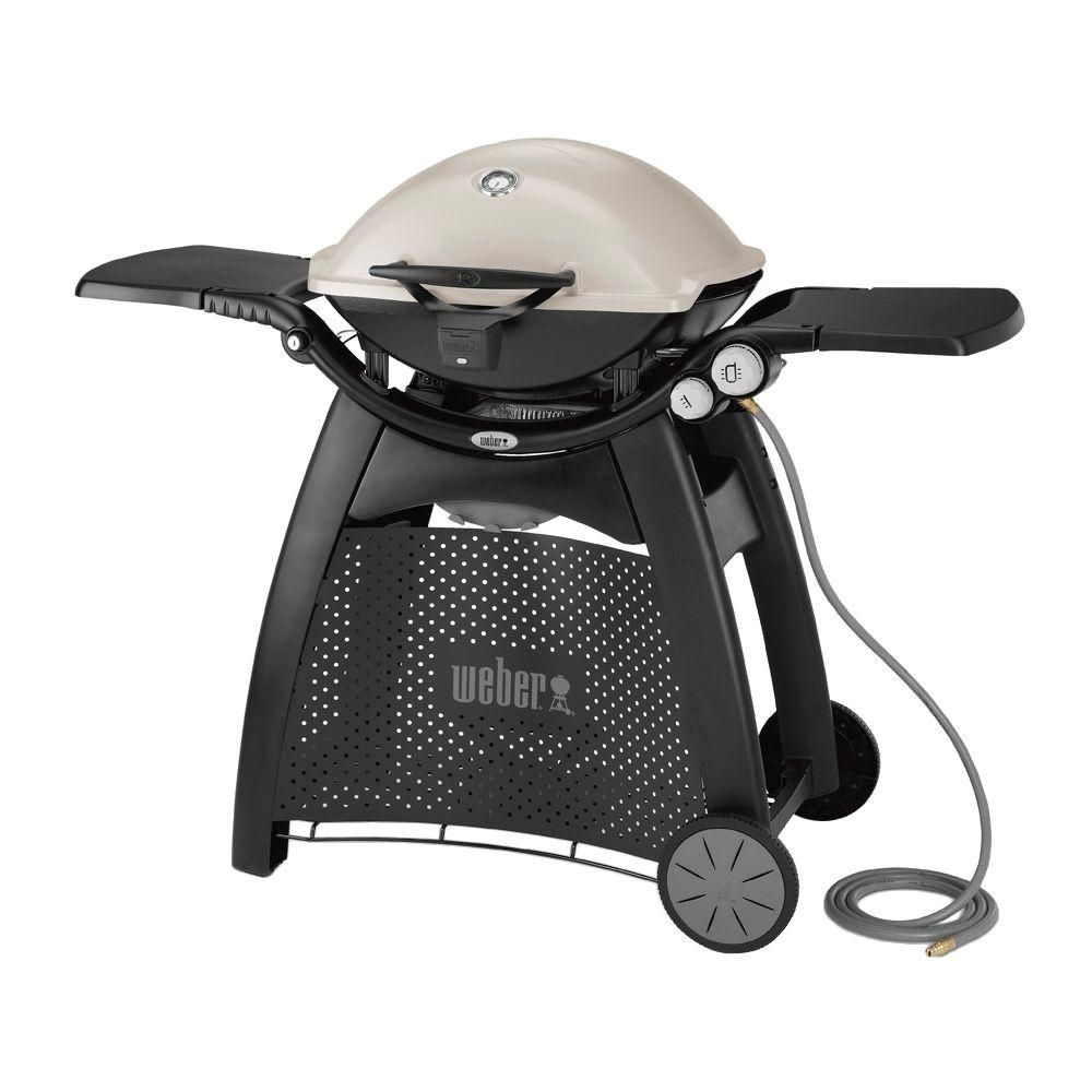 Weber Q 3200 2 Burner Natural Gas Grill In Titanium With Built In Thermometer 57067001 Best Gas Grills Propane Gas Grill Gas Grill Reviews