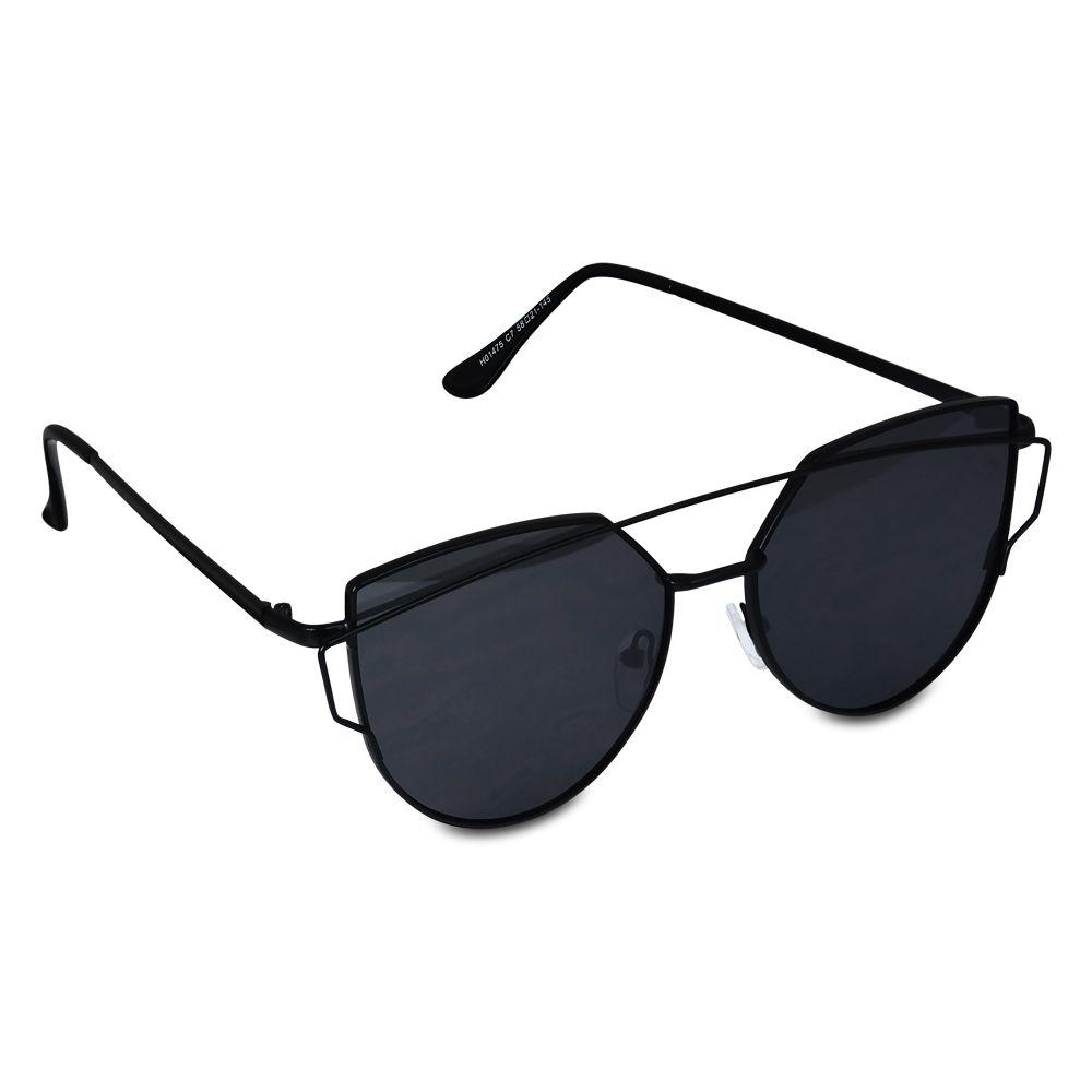 9a50212bc3c1b Resultado de imagem para óculos de sol feminino preto e prata ...