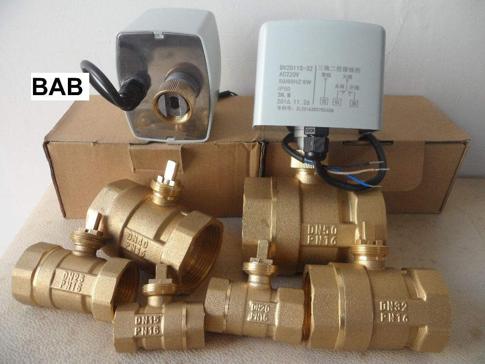 Ac220v Dn15 G 1 2 To Dn 50 G 2 2 Way 3 Wires Brass Motorized Ball Valve Electric Actuator Motor Operated Brass Place Card Holders Card Holder Place Cards