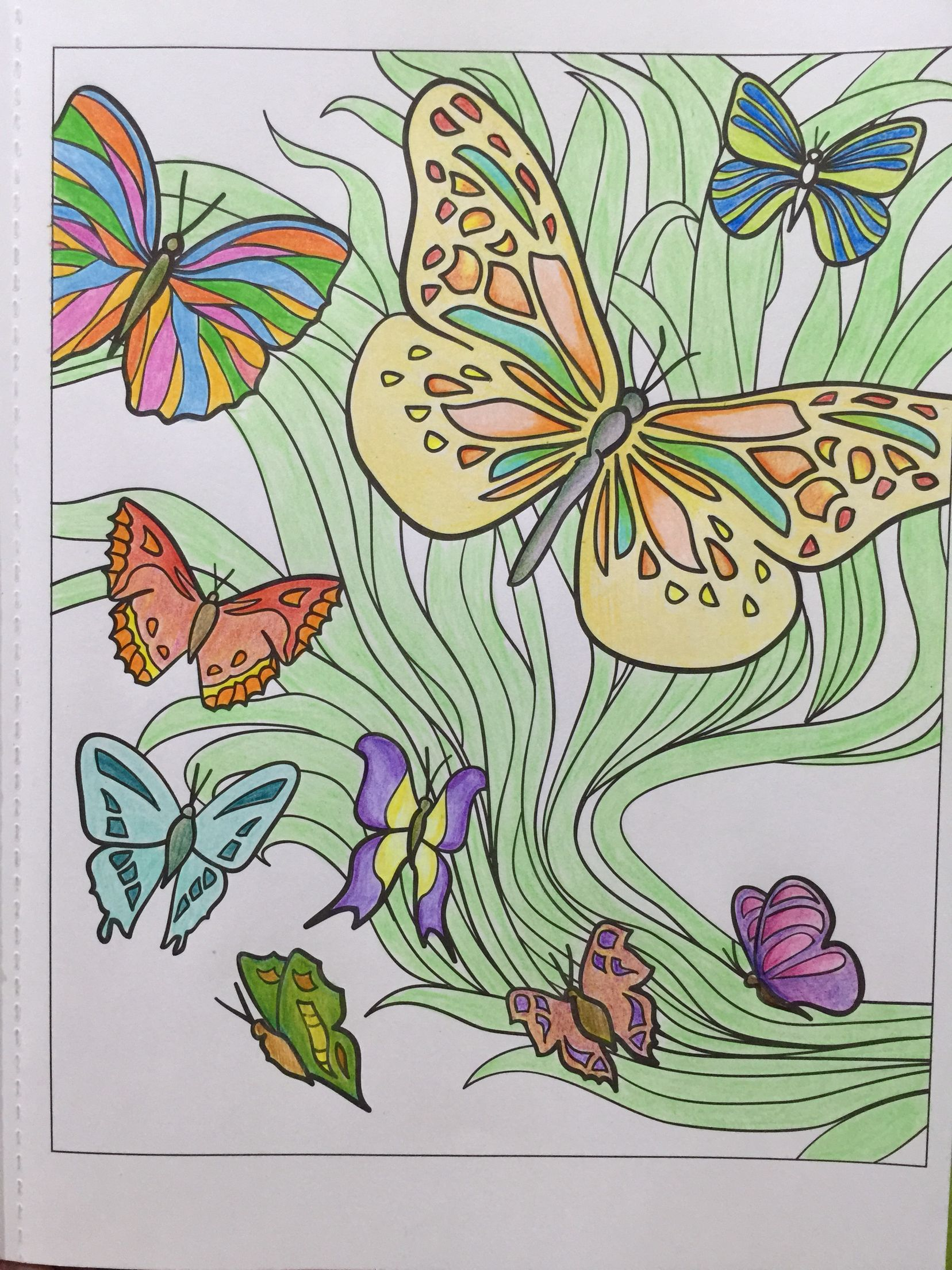 Finished page 1 of Creative Haven Coloring book.. | Coloring Pages ...