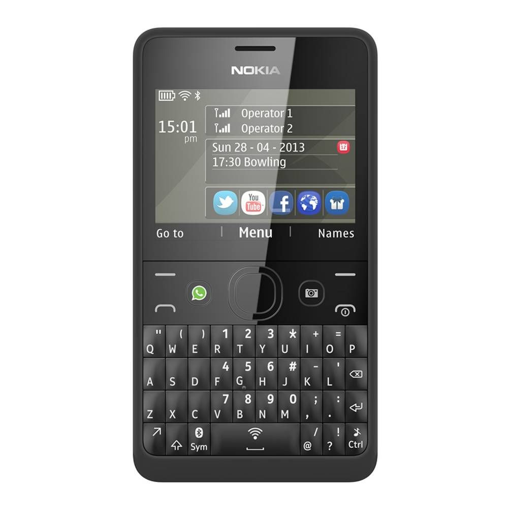 c9fe06a9c38 Estrena celular sin gastar demasiado con Nokia Asha 210, que cuenta con un  teclado QWERTY