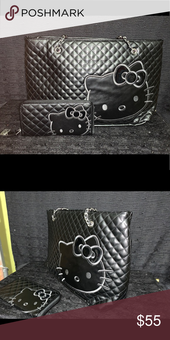 74e6e08a6 Purse/Wallet Set Preloved Hello Kitty set Hello Kitty Bags Shoulder Bags
