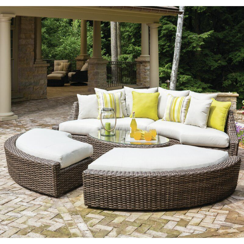 Lloyd Flanders Largo Seating Group With Cushion Perigold Outdoor Sofa Sets Outdoor Lounge Seating Outdoor Furniture Sets