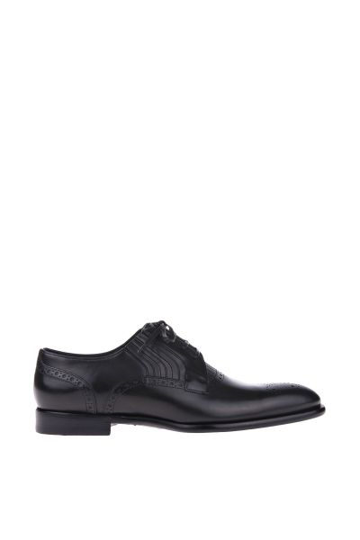 bec2e5bf5 Dolce & Gabbana perforated leather shoes with cut-leather details Tênis  Todo Preto, Sapatos