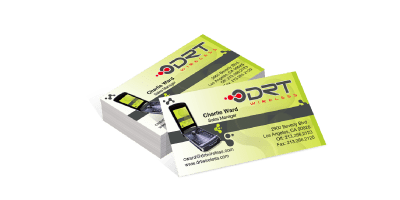 Digitally printed white Plastic is available for items sized from business cards (3.5
