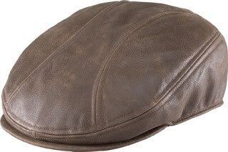Henschel Leather Ivy Driving Cap Classic Scally Flat Hat 6641 Size Small Medium 6 7 8 7 1 8 Color Brown Distressed Hensc Driving Cap Flat Hats Leather Hats