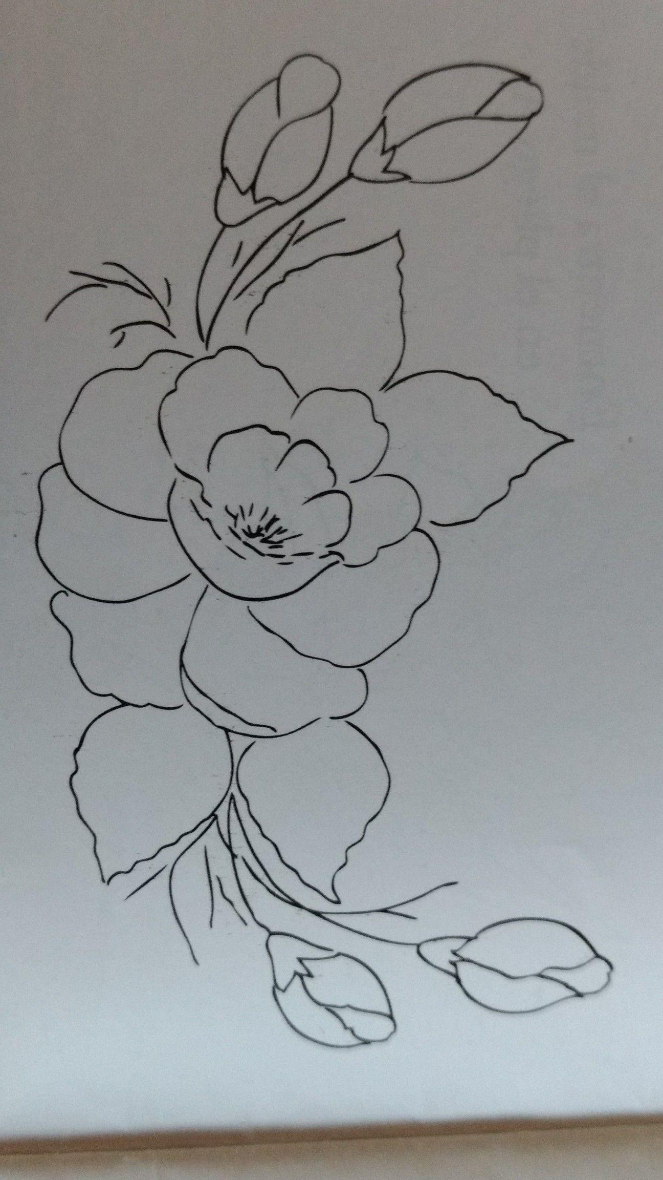 Me Encantan Estas Flores Esboços De Flor Riscos Para