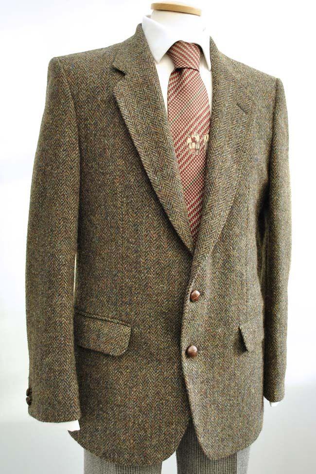 Vintage tweed check jacket brown 1980/'s