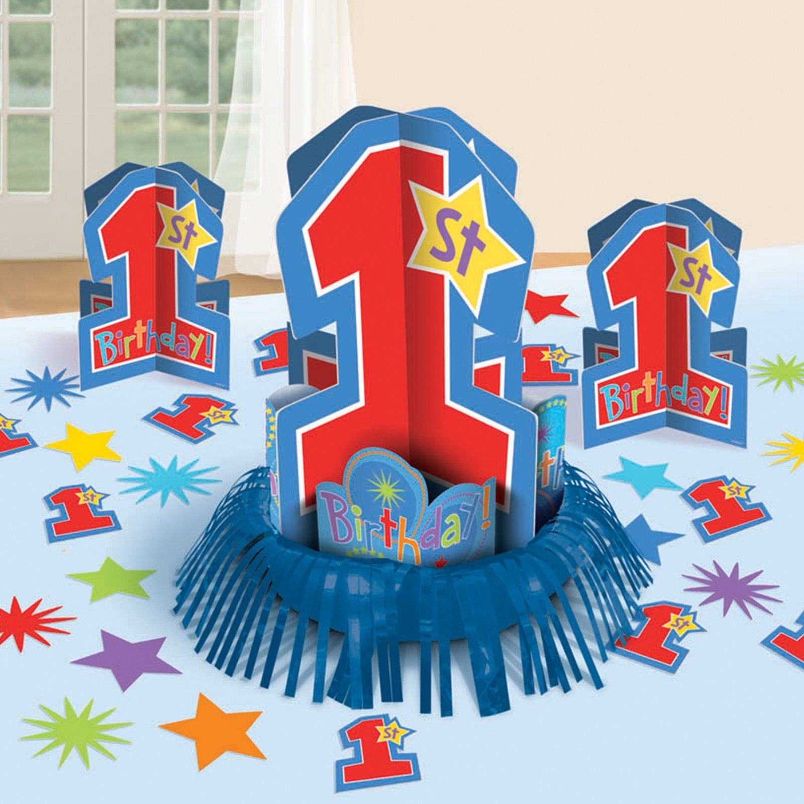 Birthday table decorations boy - One Derful Birthday Boy Table Decorating Kit