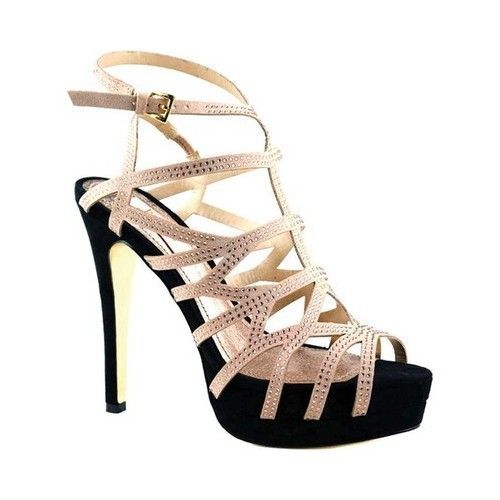 9ab15192e6b7b4 Women s Luichiny Fare Lee Stiletto Sandal - Nude Black IMI Suede Heels   BrianAtwoodHeels