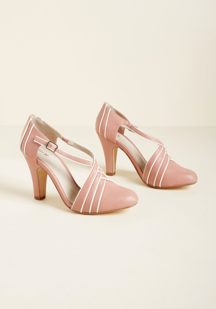 The Moment These Dusty Rose Heels Are Buckled Your Toes Begin To Tap As If Automatically With Ivory Piping Leather Linings A Heels Chelsea Crew Women Shoes