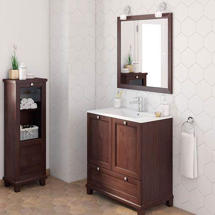 Mueble lavabo unike nogal leroy merlin casa nueva vida for Mueble lavabo pie leroy merlin