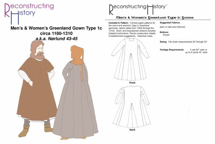 Great historically researched Greenland SCA Period Tunic Pattern