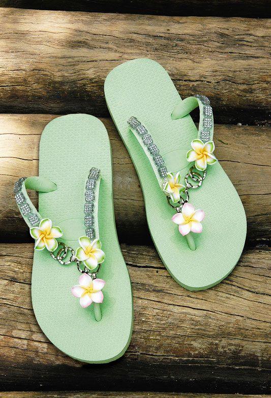 9a1a55d18 green rubber flip flops decorating ideas flowers homemade