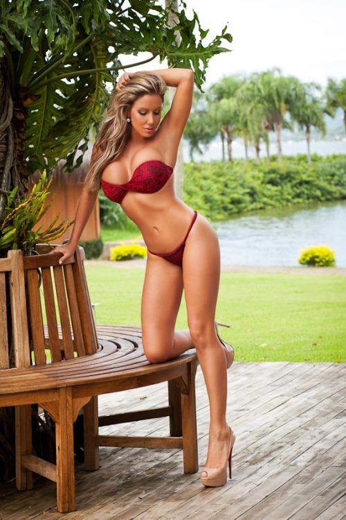 Bikini and high heels