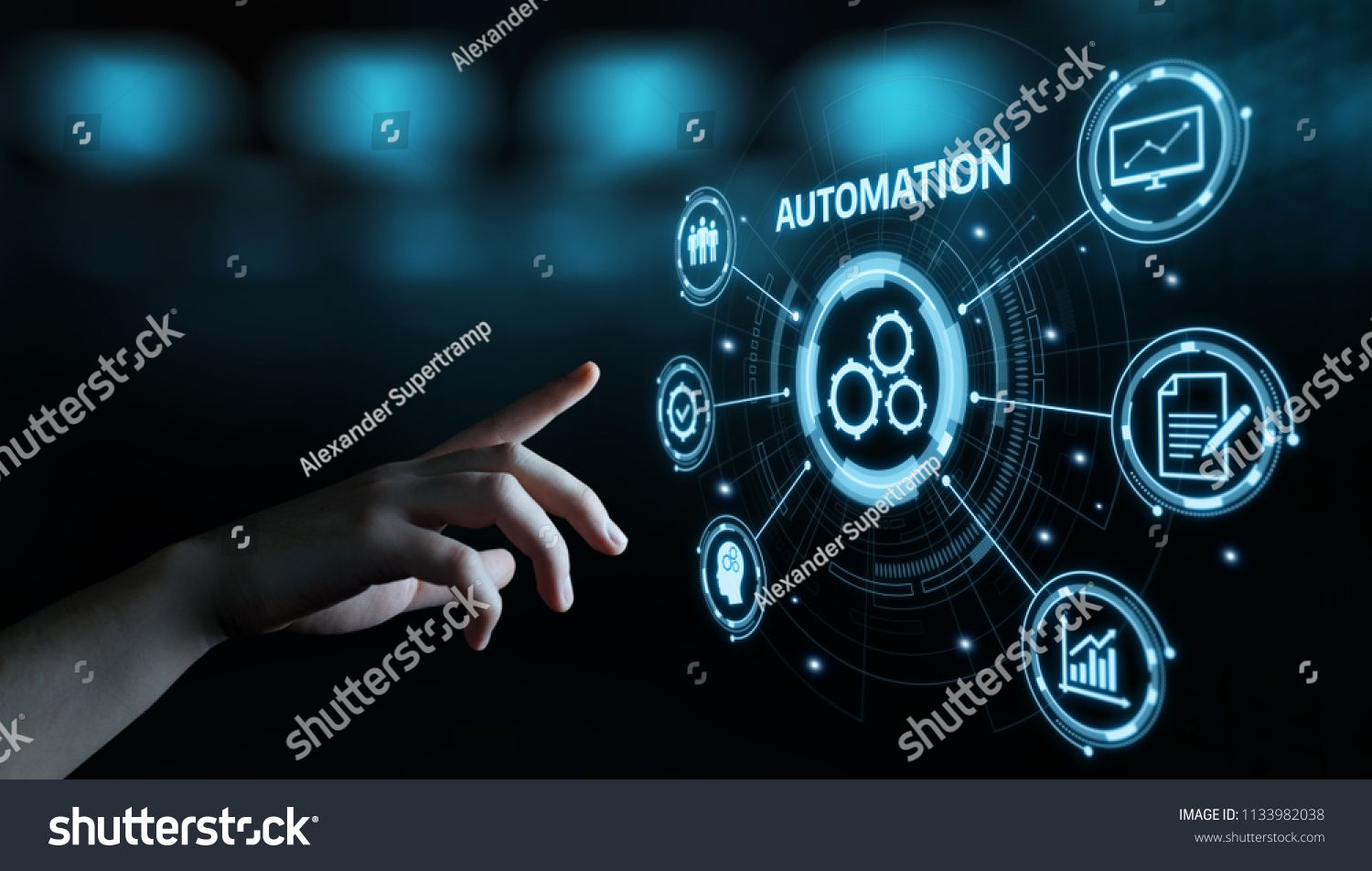 Automation Software Technology Process System Business Concept Sponsored Ad Technol Agile Software Development Internet Technology Business Stock Images