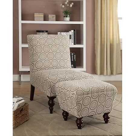 Super Medallion Suzani Armless Accent Chair And Ottoman Set Tan Gamerscity Chair Design For Home Gamerscityorg